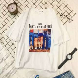 夏日爆款英文字歐美潮流女學生百搭顯瘦簡約t恤-1990款