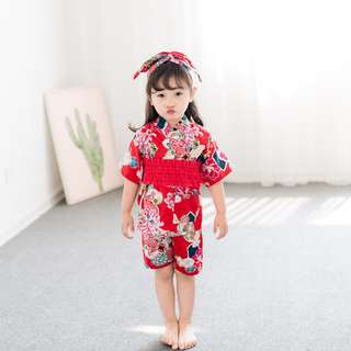 3Y Girl Red Jinbei (Japanese Traditional Summer Clothes)