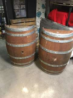 Wine Barrel Halves x2