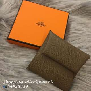 Hermes Bastia Coins Bag / Coin Purse 散字包 大象灰