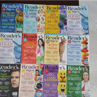 Readers Digest 2017 and 2016 - 11 issues