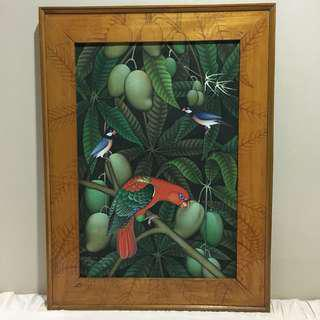 Mango and Bird Painting