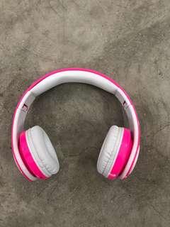 (232) Pink Bluetooth Headphone