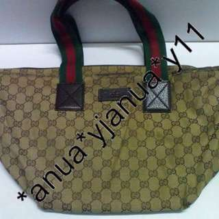 (二手品) Gucci bag 啡色手袋 奶粉袋 餃子袋 可放A4 容量大 輕身