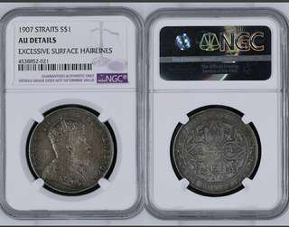 Straits King edwards vii 1907 $1. NGC Au Details