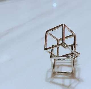 方形立體幾何#earrings