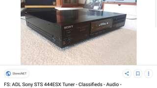 Sony ESX 444 tuner