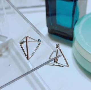三角立體幾何#earrings