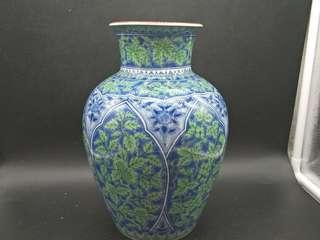庫山窯作色繪染付瓷瓶