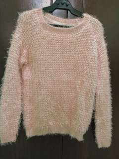 Baby Pink Fur Sweater