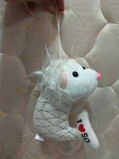 Boneka Merlion asli beli di Singapore