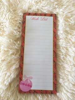Wishlist Magnetic Notepad