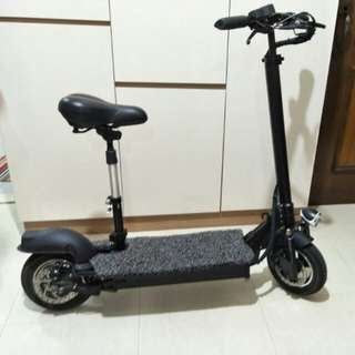 10 inch full suspension 48V 18AH 500W E-Scooter (With Free Trolley Bag)