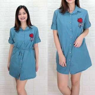 ROSE EMBROIDERED DRESS AG