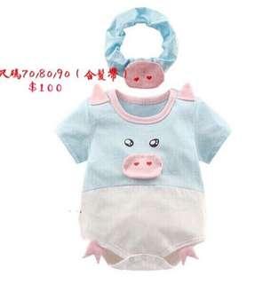 🚚 新生寶寶包屁衣(含髮帶)