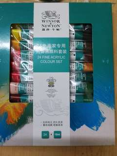 Winsor Newton 24color Acrylic paints 10ml tube