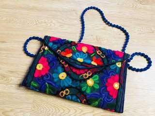 🔴私物🔴復古繡花包 側背包 手拿包