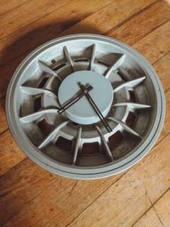 1970's Rallye Car Wheel Clock