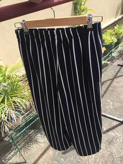 Bershka Striped Culottes size Medium-Large