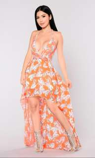 FASHION NOVA Sexy Neon Orange Dress