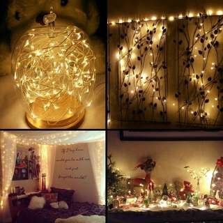 5m Battery Operated Waterproof LED String Lights Flexible Silver Wire Fairy Lights