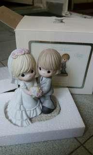 Precious Moments 陶瓷結婚公仔
