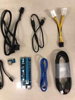 SATA, USB, PWR, Molex, PCI, ATX cable