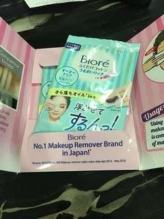 Kao Biore make up remover