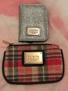 Collette coin wallet and card wallet set