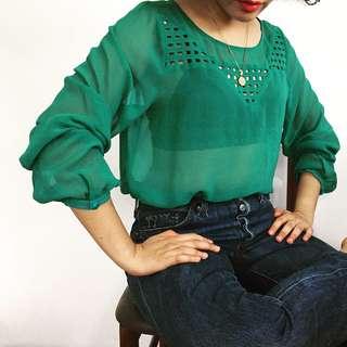 Emerald Sheer Top