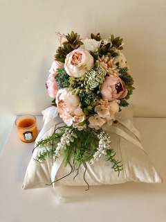 結婚絲花花球Silk Wedding Bouquet