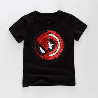 Transformation T-shirt (Spiderman & Captain America) 3Y-6Y