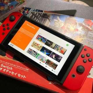 任天堂NS Switch 港版 衹玩過幾次 幾乎全新