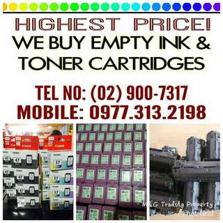 HIGHEST PRICE BUYER OF EMPTYBINK CARTRIDGES AND TONER