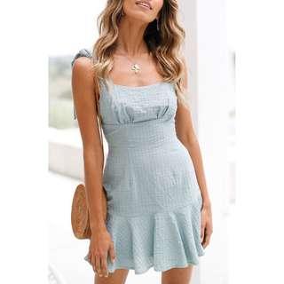 Beach Gal Ruffles Strap Dress