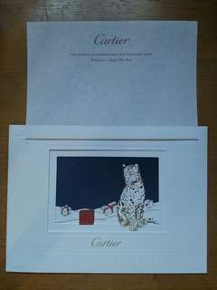 Cartier 新年快樂卡 卡地亞 happy new year card