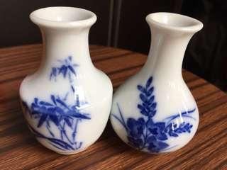 迷你瓷器青花花瓶(1對)