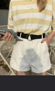 🚚 白色鬆緊帶短褲  #畢業一百元出清