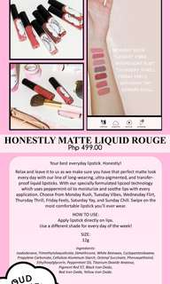 CLOUD COSMETICS: HONESTLY MATTE LIQUID ROUGE