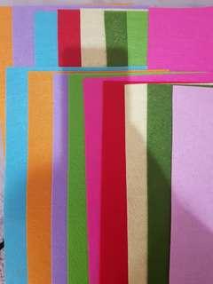 17pcs A4 Assorted Felt Non-Woven Fabric