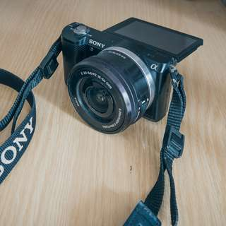 Sony a5000 with 16-50mm lens