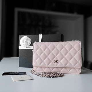 Authentic Chanel Caviar Wallet On Chain WOC