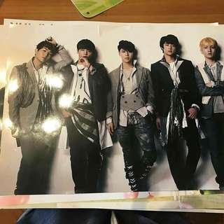 shinee海報(飯制)購自韓國