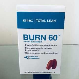 🔥燃燒卡路里🔥增強新陳代謝🔥 GNC Burn 60 燒脂60 (60粒)