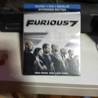 Brand New Furious 7 Blu Ray