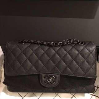 Chanel Medium Double Flap So Black Bag