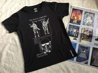 Uniqlo Star Wars Galactic Empire Elite Forces Shirt for boys