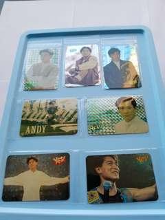 71張 劉德華 Andy Lau 華仔 特別yes卡 閃卡 90年代 歌手 yes card