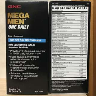 GNC Mega Men One Daily (60粒) 男士綜合維他命
