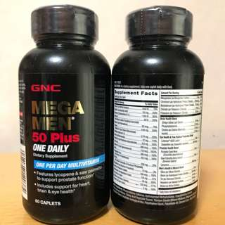 GNC 男士50+綜合維他命 (60粒) Mega Men 50 Plus One Daily